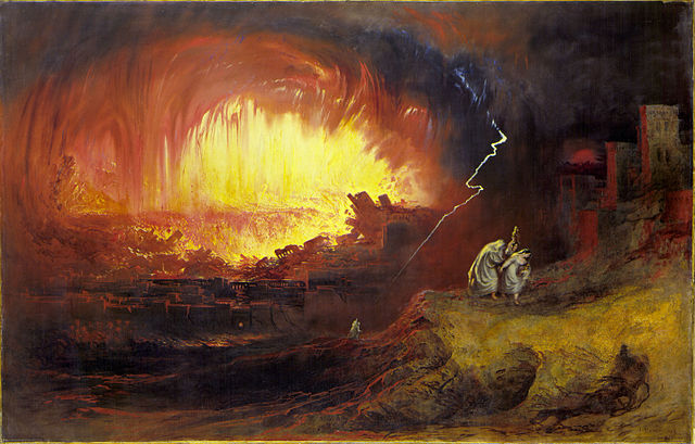 John Martin - Sodom and Gomorrah, 1852 via Wikimedia Coimmons